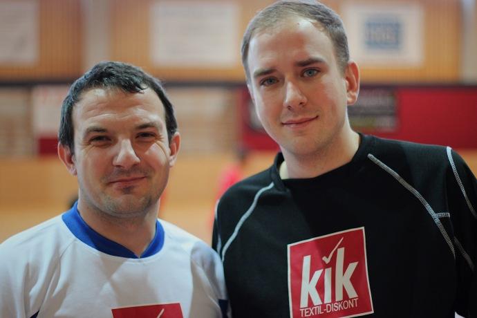 Bezirksobmann FJ Baden Geri Hein (rechts im Bild) mit Markus Vuckovic